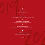 Silvestermenü 2019 – Jetzt Plätze reservieren!