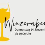 Winzerabend im BOK – Donnerstag 14.11.2019